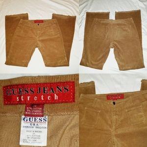 Vintage Guess Jeans Stretch USA Corduroy Brown 31